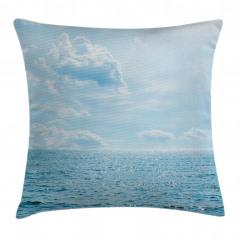 Deniz Bulut Manzaralı Yastık Kırlent Kılıfı
