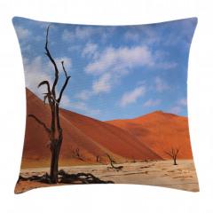 Namibya Çöl Manzarası Yastık Kırlent Kılıfı