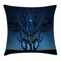 Ay Işığı ve Yıldızlar Yastık Kırlent Kılıfı