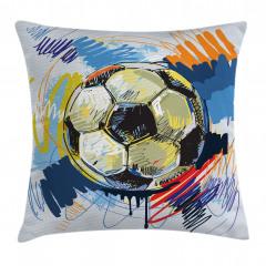 Rengarenk Futbol Topu Yastık Kırlent Kılıfı