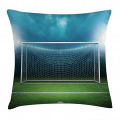 Futbol Sahası Desenli Yastık Kırlent Kılıfı