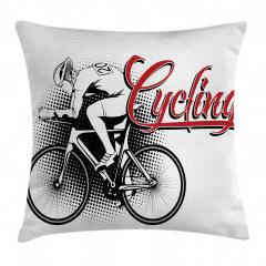 Bisiklet Aşkı Yastık Kırlent Kılıfı