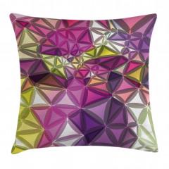 Rengarenk Geometrik Yastık Kırlent Kılıfı