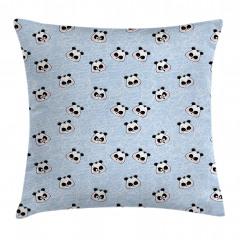 Mutlu Panda Desenli Yastık Kırlent Kılıfı
