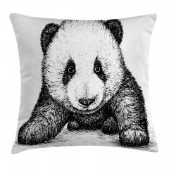 Bebek Panda Yastık Kırlent Kılıfı