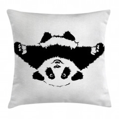 Sevimli Panda Yastık Kırlent Kılıfı