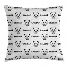 Şirin Panda Portreli Yastık Kırlent Kılıfı
