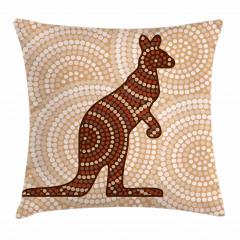 Kanguru Figürlü Yastık Kırlent Kılıfı