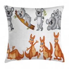 Sevimli Koala Kanguru Yastık Kırlent Kılıfı