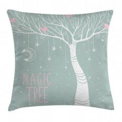 Sihirli Ağaç Desenli Yastık Kırlent Kılıfı