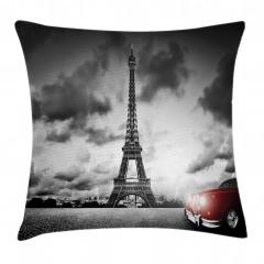Romantik Paris Yastık Kırlent Kılıfı