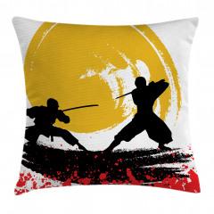 Ninja Desenli Yastık Kırlent Kılıfı