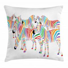 Sevimli Zebra Yastık Kırlent Kılıfı