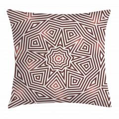 Kahverengi Geometrik Yastık Kırlent Kılıfı