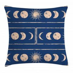 Güneş ve Ay Figürü Yastık Kırlent Kılıfı