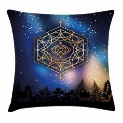 Yıldızlar ve Gökyüzü Yastık Kırlent Kılıfı