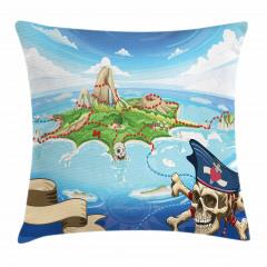 Korsan Adası Temalı Yastık Kırlent Kılıfı
