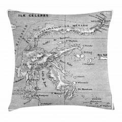 Nostaljik Harita Yastık Kırlent Kılıfı