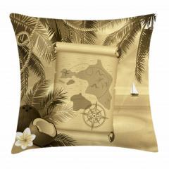 Egzotik Ada Temalı Yastık Kırlent Kılıfı