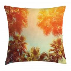 Tropikal Palmiyeler Yastık Kırlent Kılıfı
