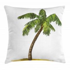 Palmiye Ağaçlı Yastık Kırlent Kılıfı