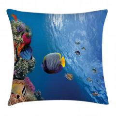 Tropikal Balıklar Yastık Kırlent Kılıfı