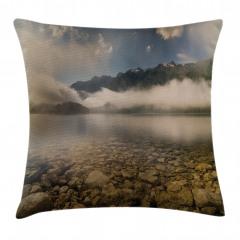 Sisli Göl ve Dağlar Yastık Kırlent Kılıfı