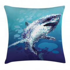 Pullu Köpek Balığı Yastık Kırlent Kılıfı