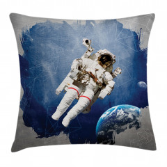 Astronot Temalı Yastık Kırlent Kılıfı