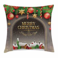 Noel Temalı Yastık Kırlent Kılıfı