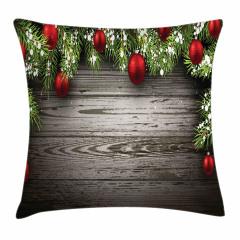Noel Ağacı Temalı Yastık Kırlent Kılıfı