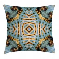 Geometrik Batik Desenli Yastık Kırlent Kılıfı