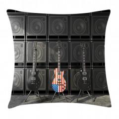 Hoparlör ve Gitar Yastık Kırlent Kılıfı