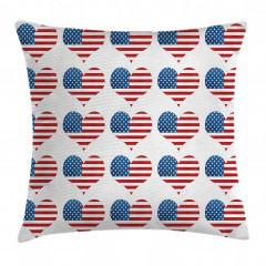 Kalpli ABD Bayrağı Yastık Kırlent Kılıfı