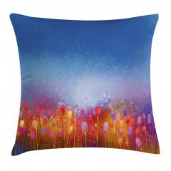 Rengarenk Dağ Çiçekleri Yastık Kırlent Kılıfı