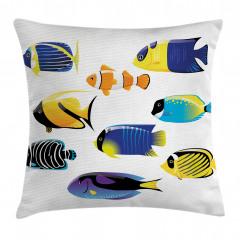 Şık Balık Desenli Yastık Kırlent Kılıfı