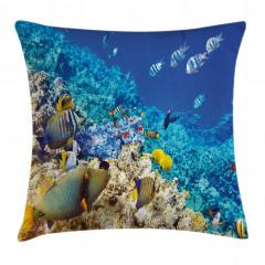 Mercan ve Balıklar Yastık Kırlent Kılıfı
