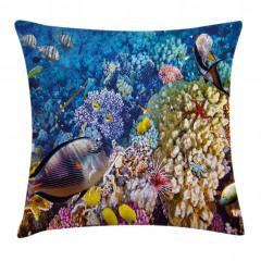 Rengarenk Mercanlar Yastık Kırlent Kılıfı