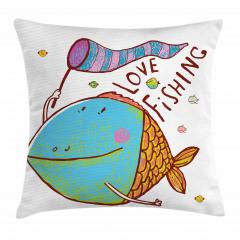 Balıkçılık Aşkı Temalı Yastık Kırlent Kılıfı