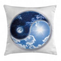 Ay ve Güneş Temalı Yastık Kırlent Kılıfı