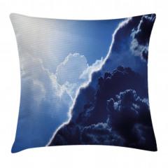 Bulut ve Gökyüzü Temalı Yastık Kırlent Kılıfı
