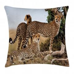Çita Temalı Yastık Kırlent Kılıfı