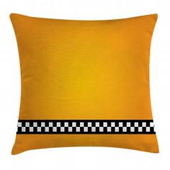 Şık Sarı Desenli Yastık Kırlent Kılıfı