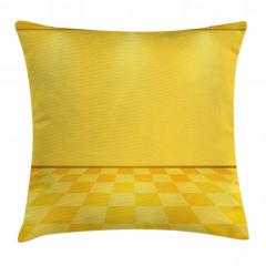 Spot Lambalı Sarı Yastık Kırlent Kılıfı