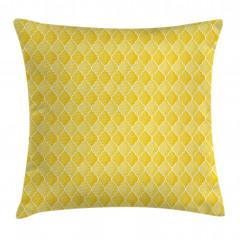 Sarı Duvar Kağıdı Yastık Kırlent Kılıfı