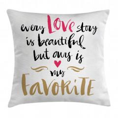 Aşk Temalı Yastık Kırlent Kılıfı