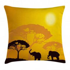 Afrika Desenli Yastık Kırlent Kılıfı