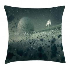 Astronot ve Uzay Temalı Yastık Kırlent Kılıfı