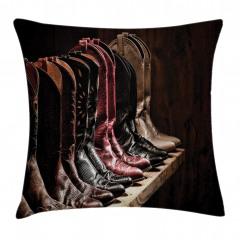 Kovboy Çizmeleri Temalı Yastık Kırlent Kılıfı