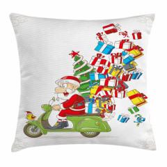 Noel Baba ve Hediye Yastık Kırlent Kılıfı